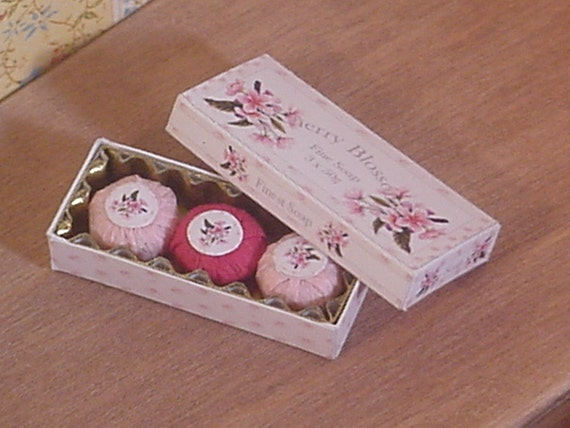 KIT Soap Box Cherry  1inch Scale Dollhouse Miniature
