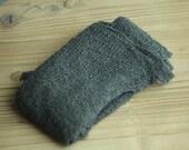 Steel Blue Gray Stretchy Knit Newborn Wrap