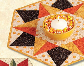Quilting Pattern, Table Topper Pattern, Tree Skirt Pattern, Happy Holidays by Terry Atkinson, 3 size options