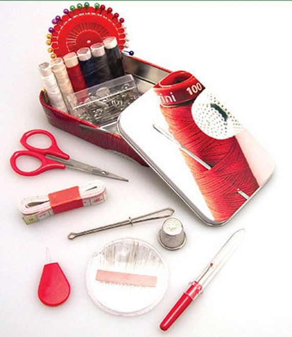 Travel Sewing Kit ,Sew Complete in a Tin, Beginners Set
