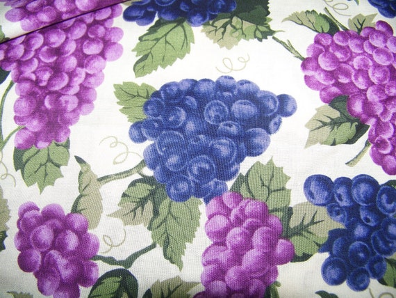 Fabric, Grapes on the Vine, By The Yard