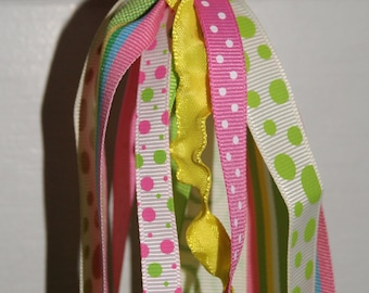 personalized ribbon keychain