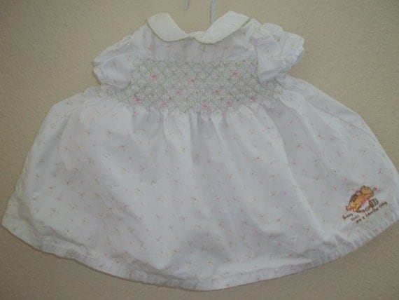 Vintage Pooh Baby Dress, size 6 months