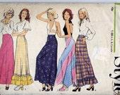 "1970s Vintage Sewing Pattern - Long Hippy/Boho Skirt - Style 4011 - Size 10-12 - Waist 26.5"""