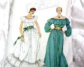 """VTG UNCUT FF - 1970s vogue sewing dress pattern, gypsy boho design Vintage - Bust 30.5, 31.5, 32.5"""""""