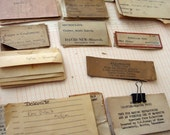 Scientific Vintage Paper Ephemera - Assorted geological sample labels