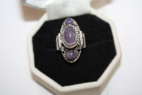 Vintage Sterling Silver Poison Ring.