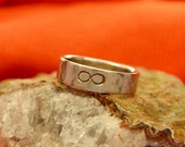 Infinity Band, Hand Forged, Hammered Ring Band in 6mm Stainless Steel