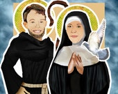 St Benedict and St Scholastica: Twin Saints DIGITAL paper doll download