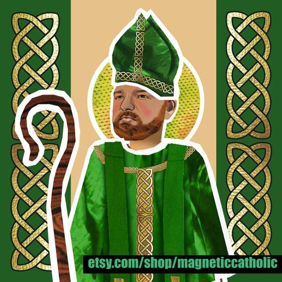 St Patrick Patron saint of Ireland magnetic dress up doll