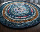 handmade circle rug