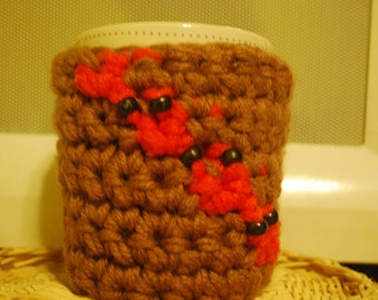 On sale,handmade cup cozy