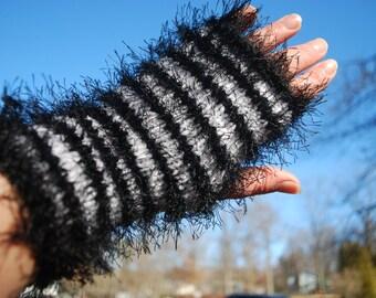 On sale,FUN FUR handmade fingerless gloves