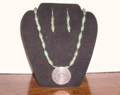 Rich Jade 22 inch Necklace and Earrings