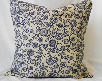 Decorative Pillow Cover, Blue, 20x20