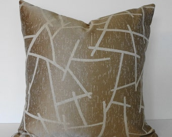 Decorative Pillow Cover, Cream, Taupe Pillow Cushion, Throw Pillow Cover, 18x18