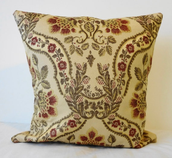 Red Gold Decorative Pillows : Decorative Pillow Cover Gold and Red 16x16 by pillows4fun on Etsy