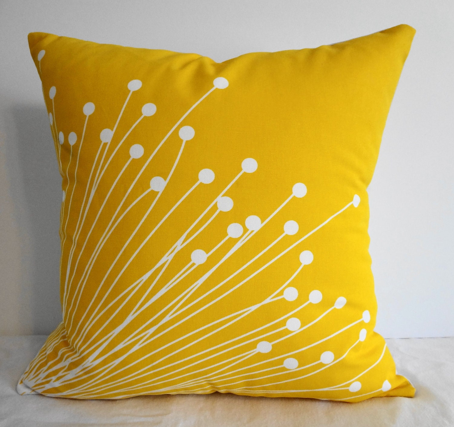 How To Make Decorative Throw Pillow Covers : Starburst Yellow Pillow Covers Decorative Throw Pillow