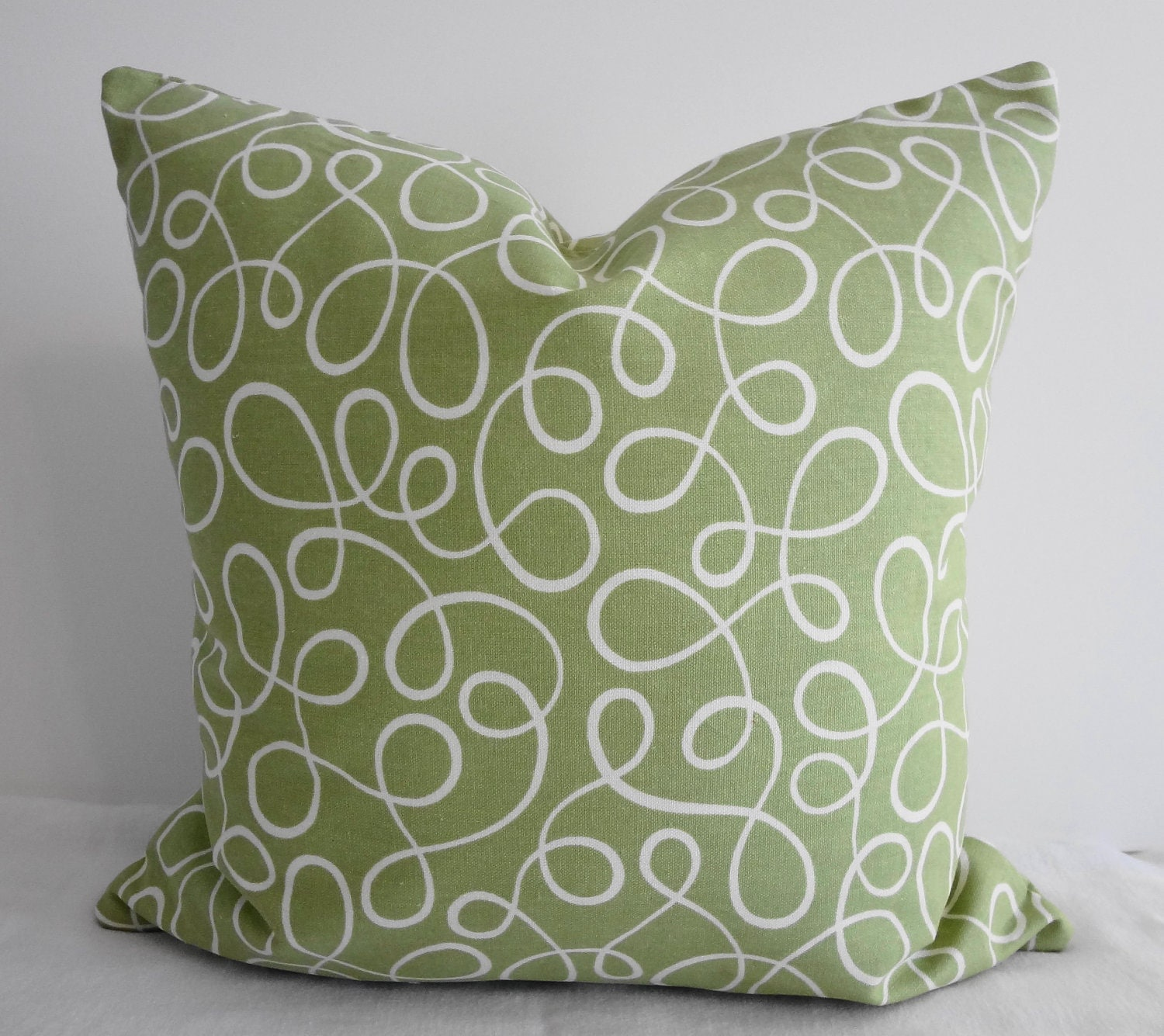 Sage Green Swirls Decorative Throw Pillow Covers P Kaufmann