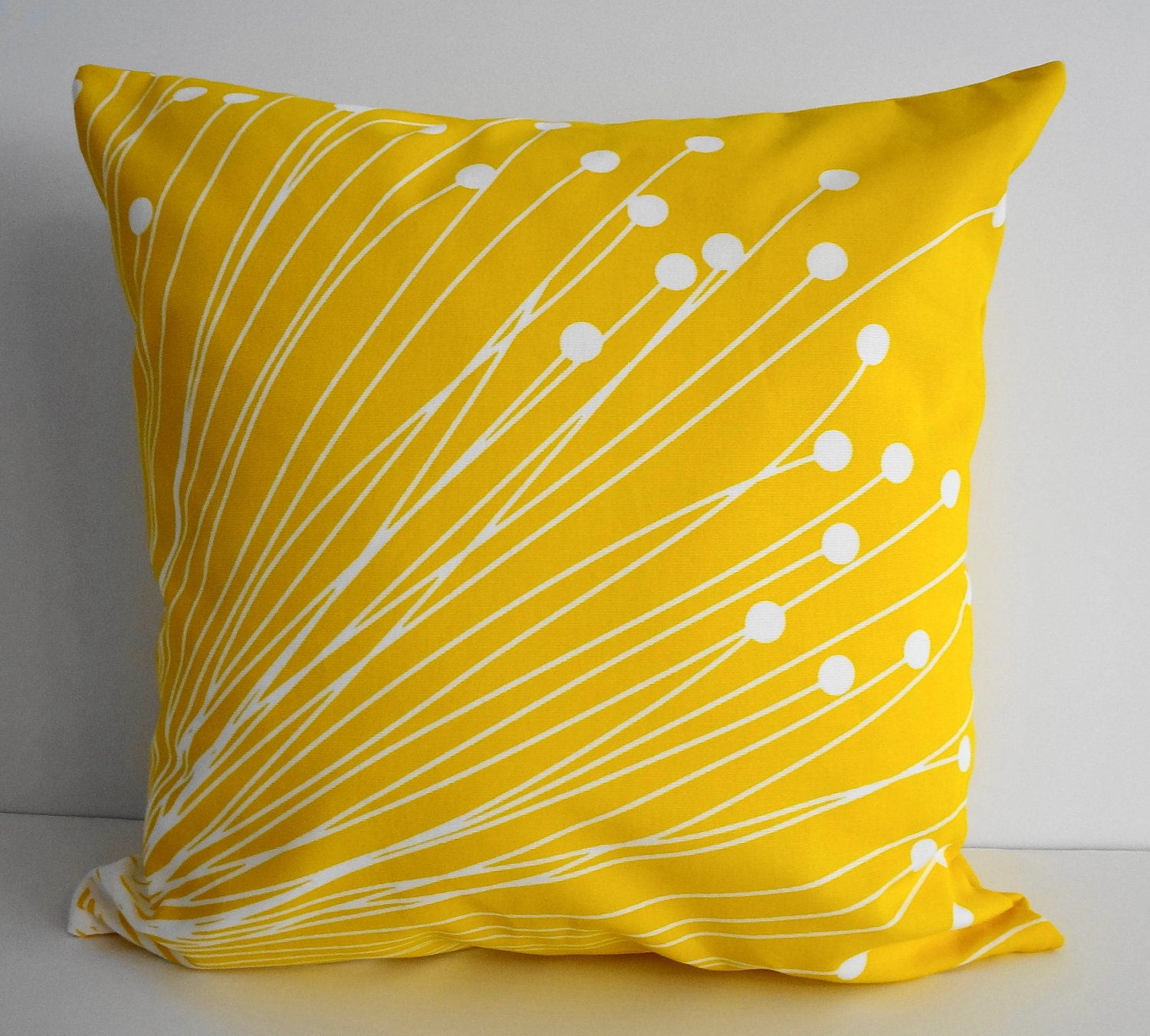 Yellow starburst pillow covers decorative throw by pillows4fun for Decor pillows