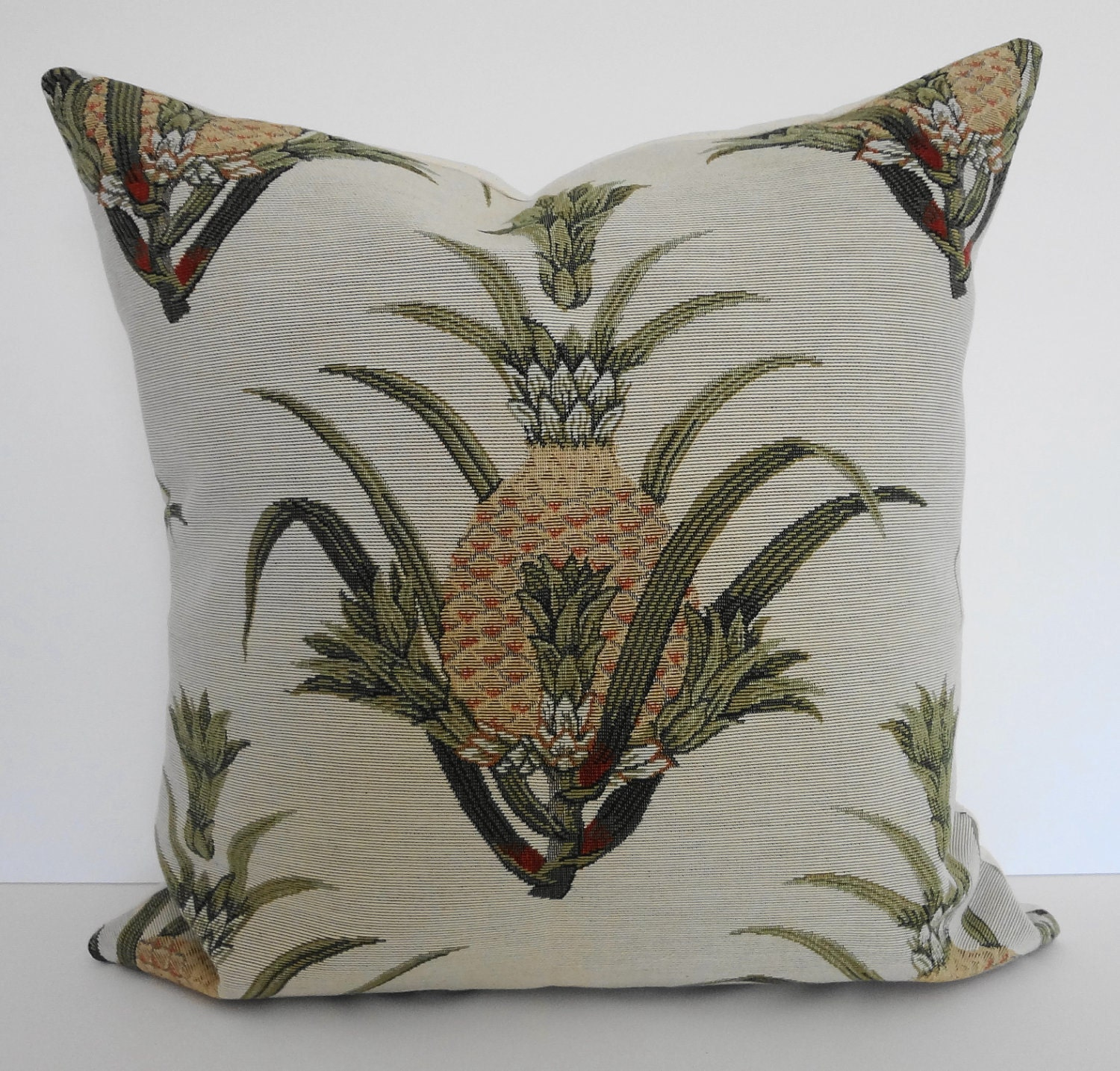 Pineapple Decorative Pillow Cover Tropical Designer Throw