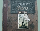 7 Gypsies in Paris Paperback Book for altered art and collage inspiration