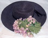 antique straw hat for child or teddy bear