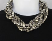 Snake Chain Chunky Braided Necklace