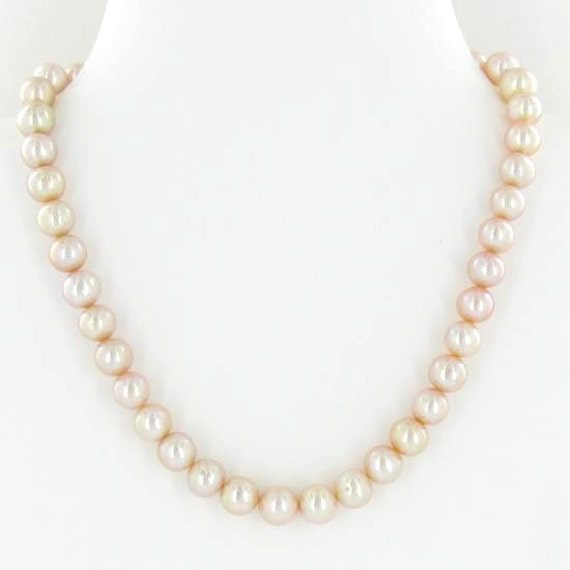 Peach Pearl Necklace: Rare Peach Colored South Sea Pearl Necklace By Sdbees1030