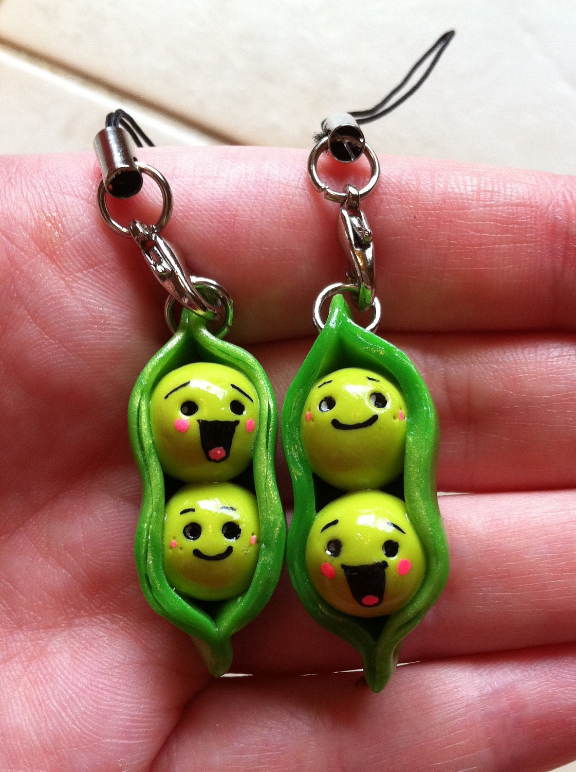 Two Peas In A Pod Best Friend Phone Charms By Monsterzombie