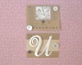 MONOGRAM APPLIQUE Letter U Washable Dyeable