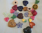 Novelty Buttons Set of 28 Mixed Designs