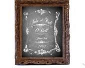 wedding chalkboard art print signage customized  typography chalk board vintage black 8x10 decor personalized gift