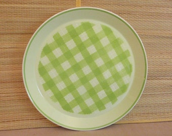 Mikasa Checkmates Green and White Chop Plate
