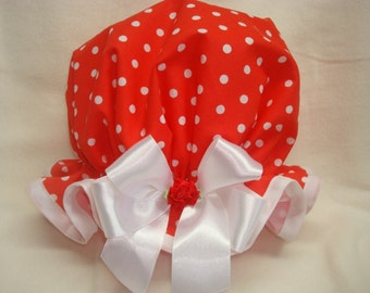 Cotton shower cap