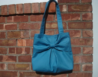 Bow cotton tote