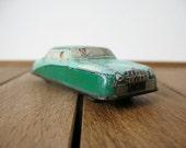 Vintage tin car - green Rolls Royce - 50s