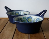 Figgjo Flint - Tor Viking - Scandinavian Norway - Retro 70s Mid Century - Blue