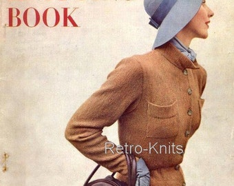 PDF - Vogue Knitting Book  Issue No 35 from the 1940's -  Instant Download