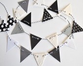 Paper Garland with Black, Grey, Cream and White Theme