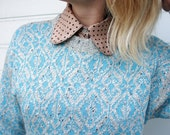 Vintage Sweater in Blue and Gray