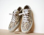 Vintage Geox Snake Skin Lace Up Sneakers Size 7.5