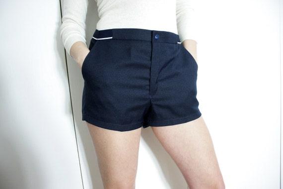 Vintage High Waist Navy Blue Shorts