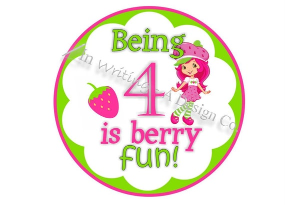 Strawberry Shortcake Iron on Design