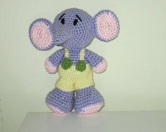 Crochet BIMBO The Elephant  toy