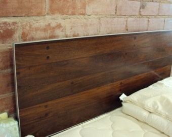 Headboard, Reclaimed Wood Mahogany Headboard, Wood Headboard, Modern Wood Headboard, Custom Made Headboard