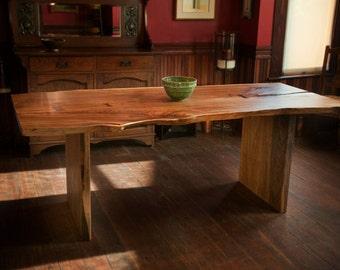 Single Slab Live Edge Dining Table, Live Edge Elm Table, Wood Slab Table, Live Edge Dining Table, Single Slab Table Tops, Modern Dining