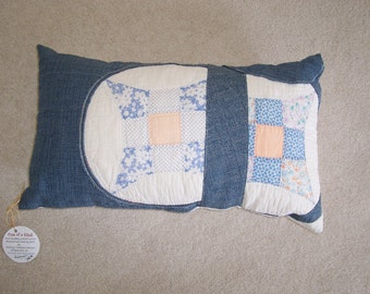 SALE! Antique Quilt Repurposed - new Pillow Cover