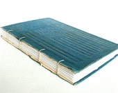 Antique Cover Journal - Coptic Journal - Blue 5 x 7.25 Journal by The Orange Windmill on Etsy