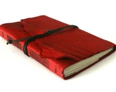 Large Leather Journal, Red Hand-Bound 6 x 8.75 Journal by The Orange Windmill on Etsy